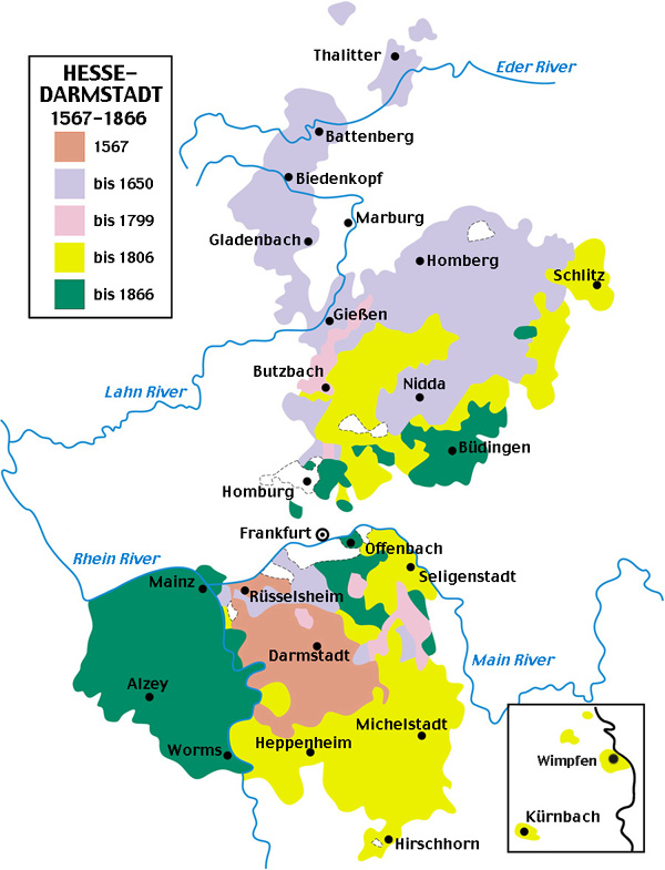 Hessen Darmstadt 1567 1866