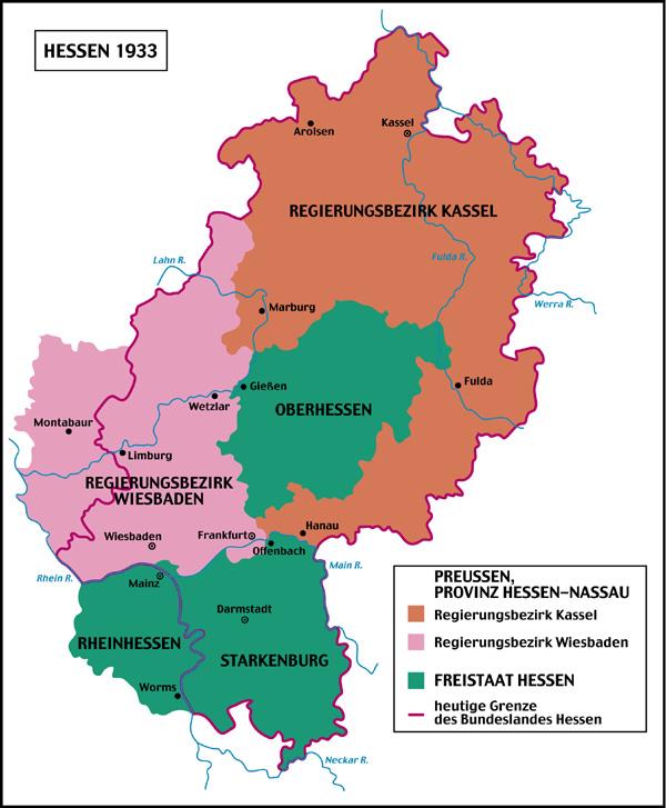 A Land Called Hessen - Germany map kassel